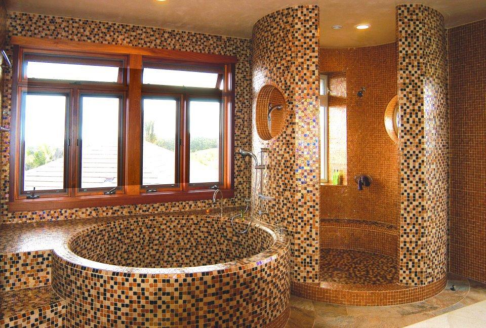 Выложенные ванны плиткой дизайн